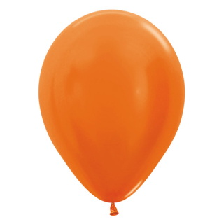 Luftballons Metallic Orange 50 St.
