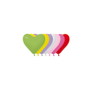 Herzballons Fashion Solid Sortiment 15 cm - 50 St.